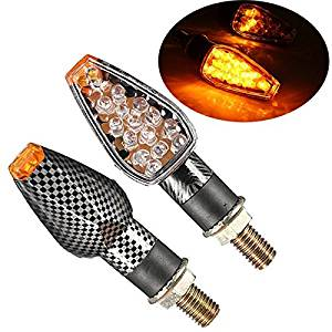 BephaMart Carbon Motorcycle Turn Signal 14 LED Indicator Lights For Honda Shipped and Sold by BephaMart