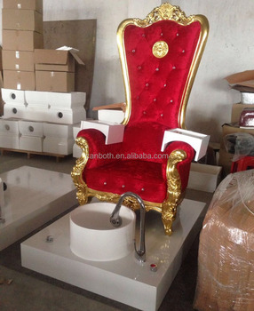 Luxury Throne Pink Gold High Back Pedicure Chair Pink With Pedicure Chair  CB FP003