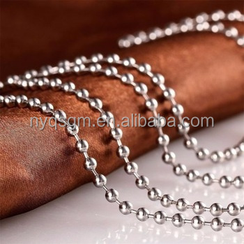 Low price 1.5mm 2.4mm 4.5mm Stainless Steel Ball Chain with connector ball chain for jewelry making