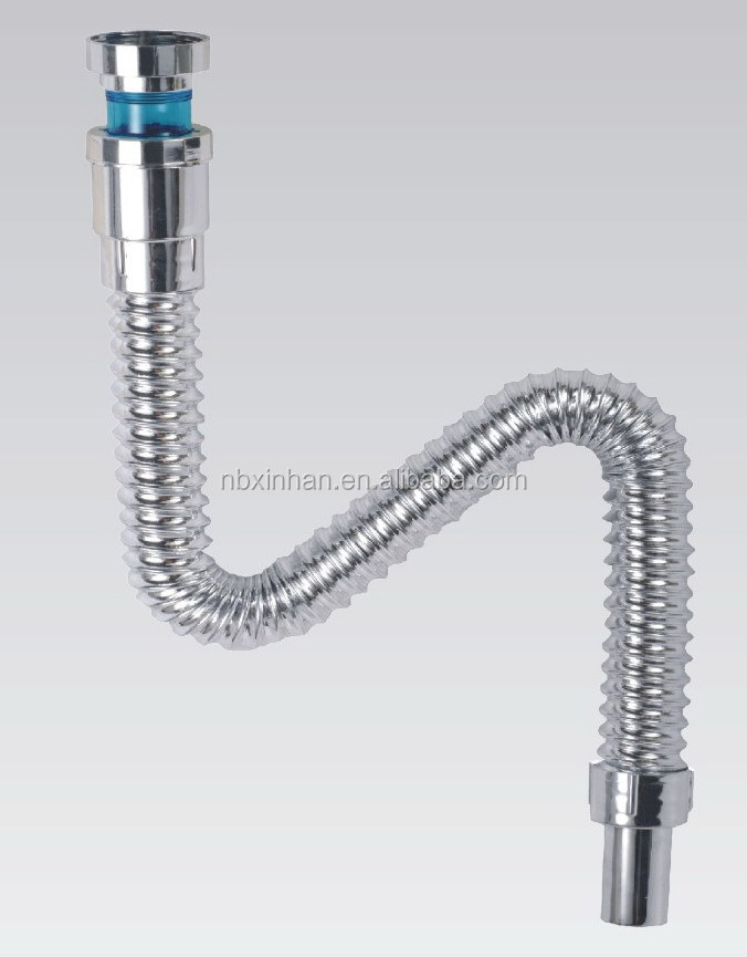 Bathroom Flexible Drain Plastic Pipe For Sink Drain Hose