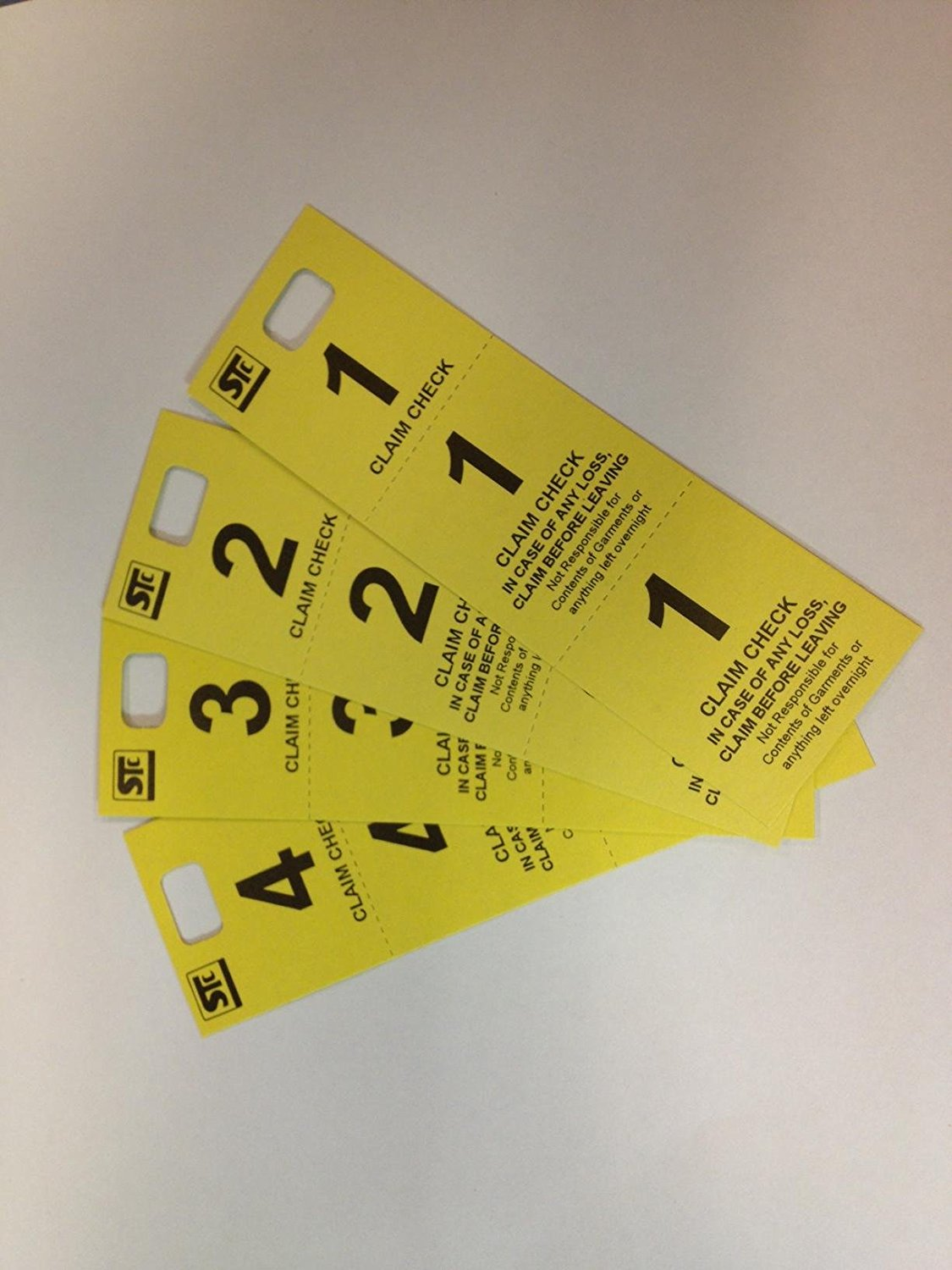 Stanton Trading Coat Check Tag, Triplicate Coat Check Claim Tickets (Yellow)