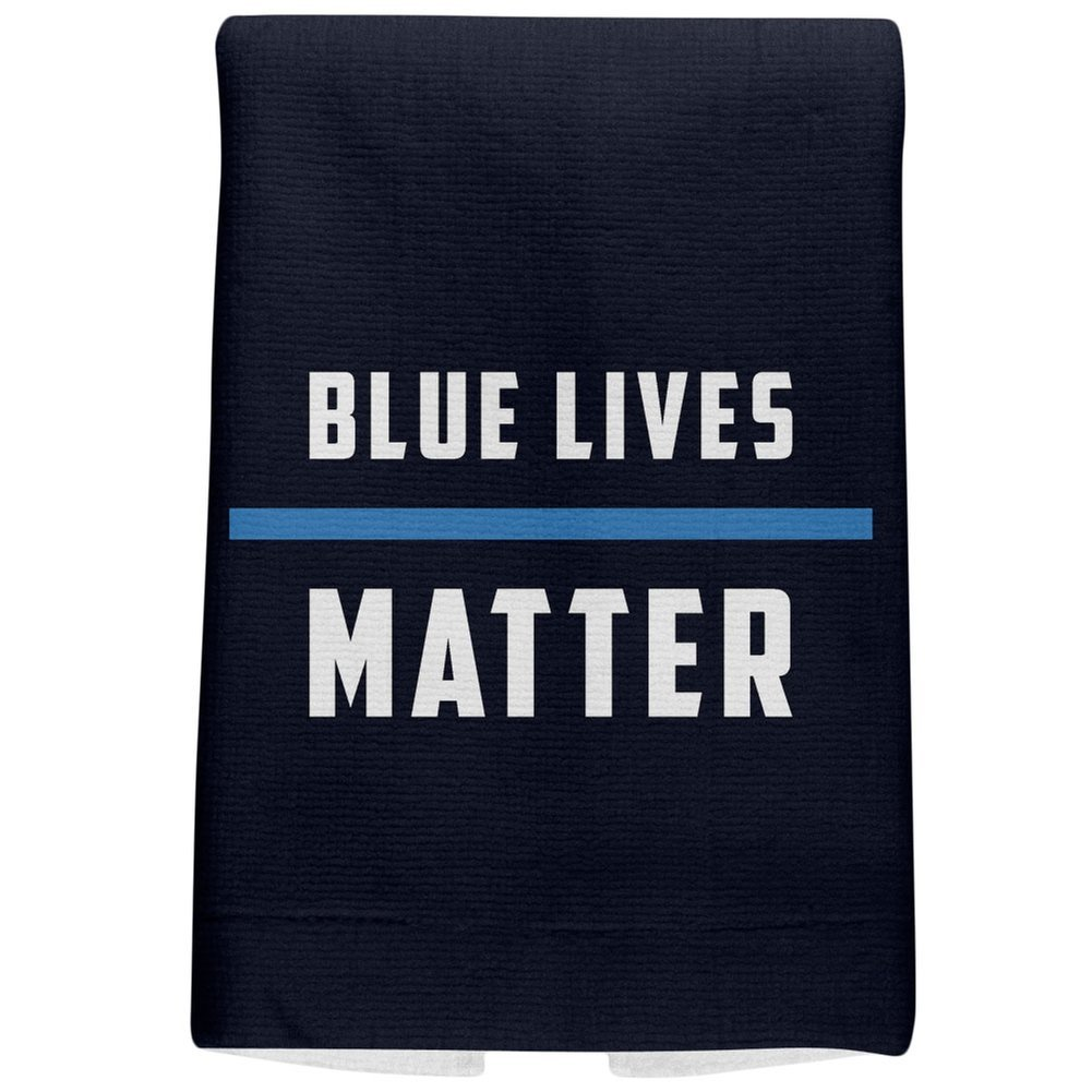 Police Blue Lives Matter Thin Blue Line Navy All Over Sport Towel