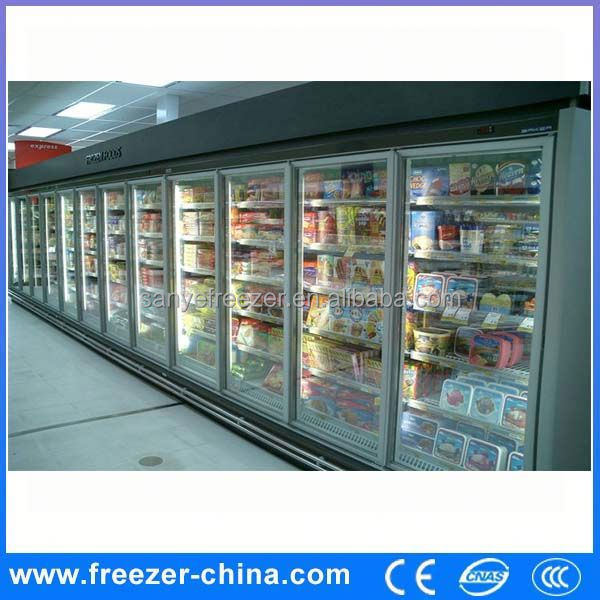 Glass door commercial ice cube refrigerator/commercial refrigerator