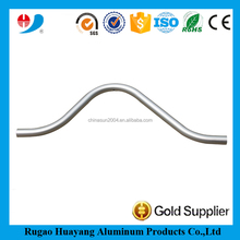 high quality matt silver anodized curved aluminum pipe for table legs
