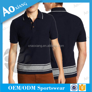 2017 New Fashion style customized wholesale high quality men tailored polo t-shirt