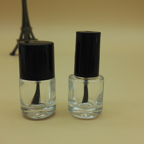 10ml Nail Polish Bottle Empty Glass Bottles With Cap Brush With Black Cap Brush empty bottle
