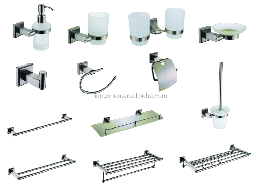 simple-design Stainless steel 304 bathroom accessory set/china bathroom accessories