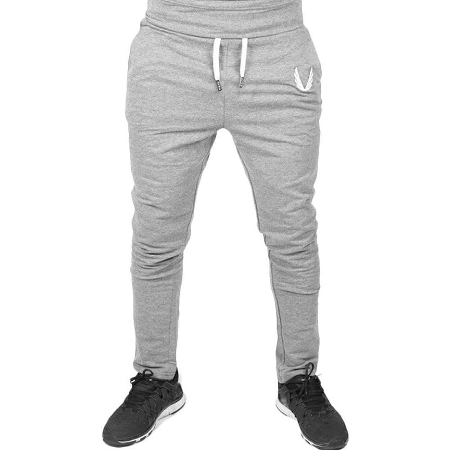 Morecome Men Sportswear Casual Elastic Pants,Fitness Workout Running Trousers for Men