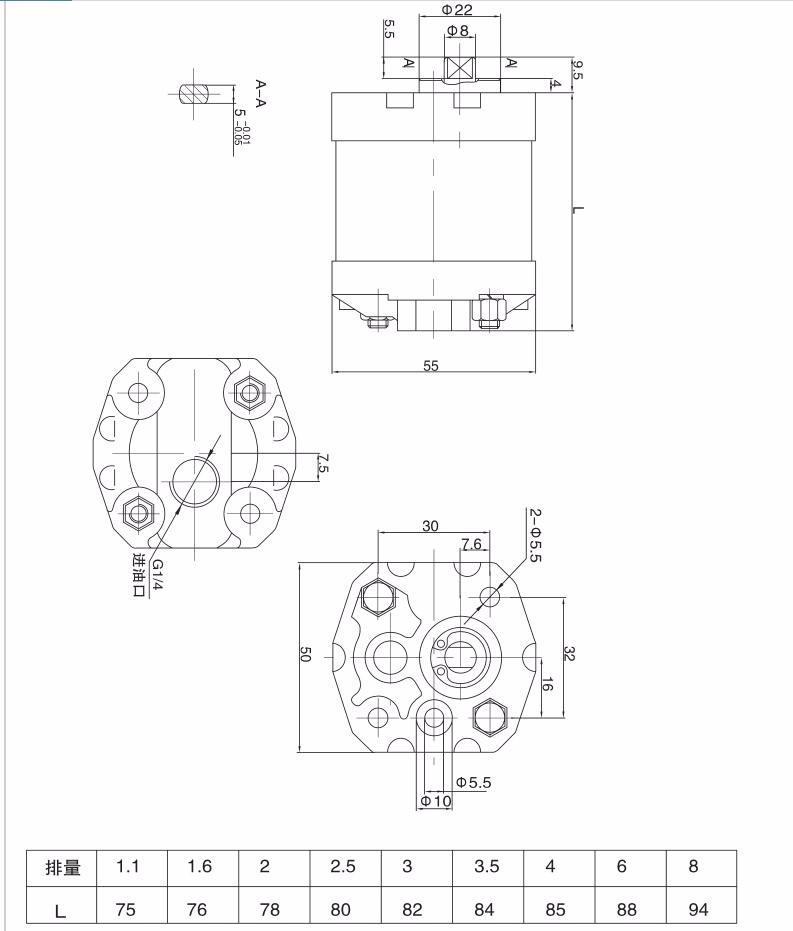 Cbk Hydraulic Gear Pump Gear Pump Hydraulic Jcb Tractor Hydraulic