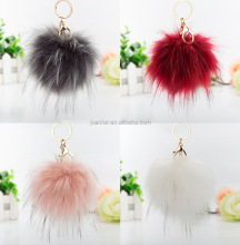HLF-5 faux fox fur accessories furball lovely pompon cute shape ball faux fur for bag charm/girs gift/car/decoration/cellphone