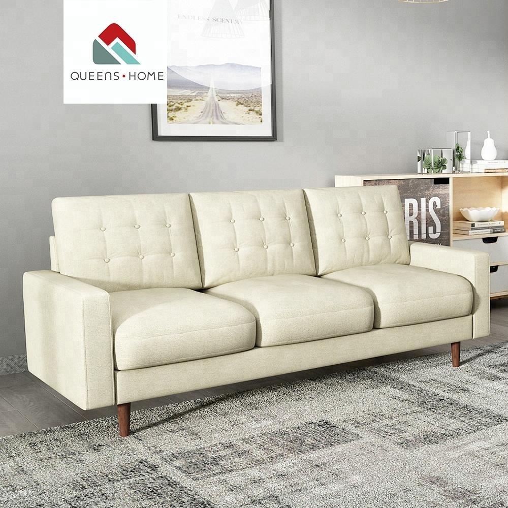 Queenshome home rattan furniture zhongshan making machine latest 3 seater sofa design fabric scandinavian modern house sofa