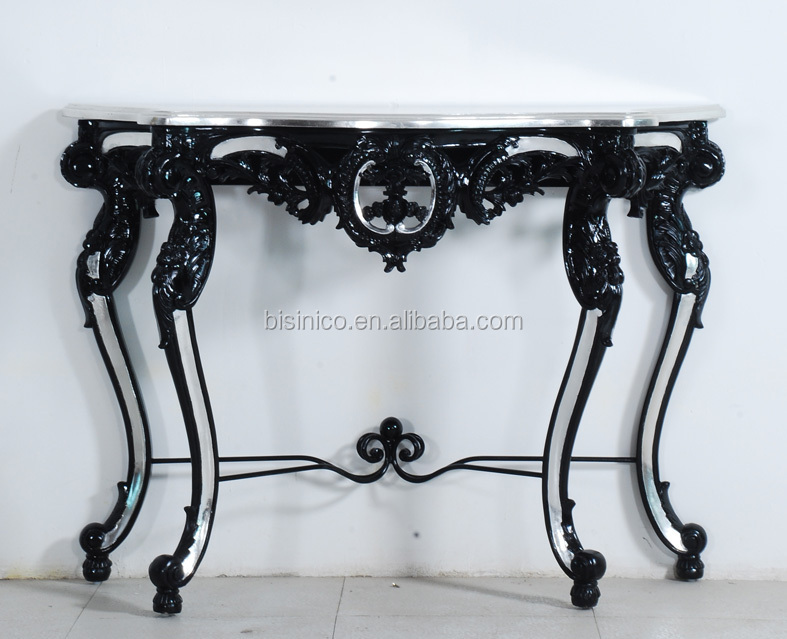 Halfronde Tafel Sidetable : Bisini halfronde ijzer console tafel antieke ontworpen mooie