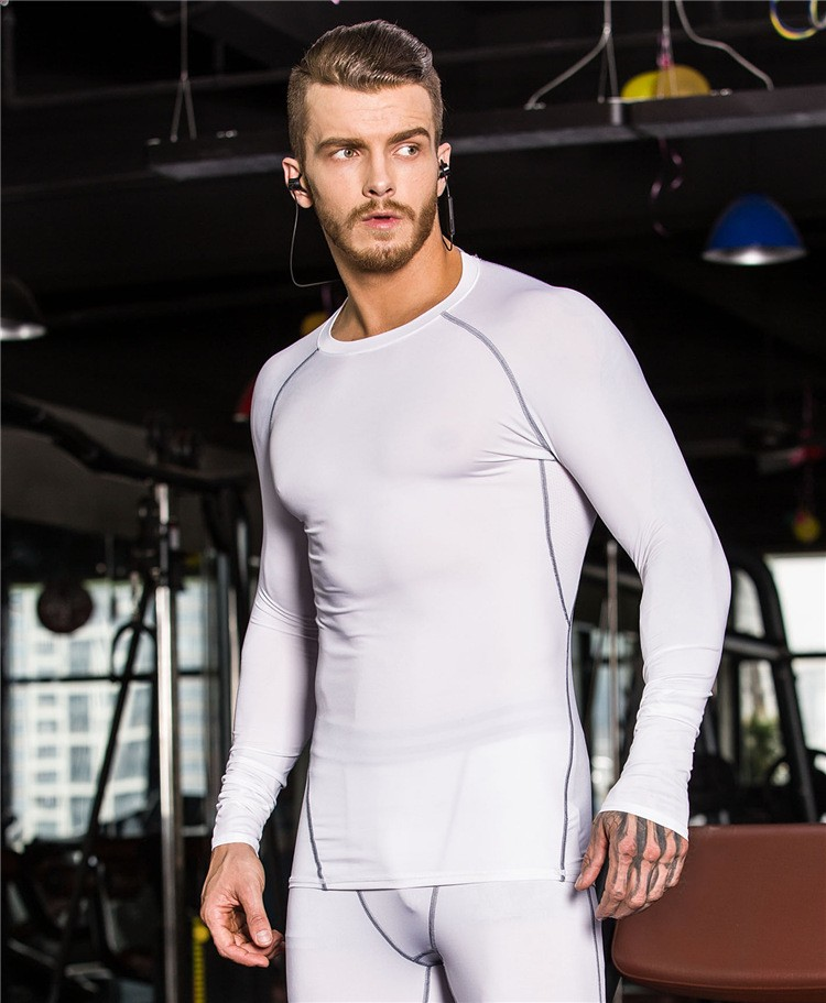 China Wholesale Men's Clothing Gym Sport Wear Tight Fit Men's Quick Dry T Shirts Custom 5