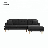 Scandinavian Modern style living room furniture cheap corner sofa sectionals