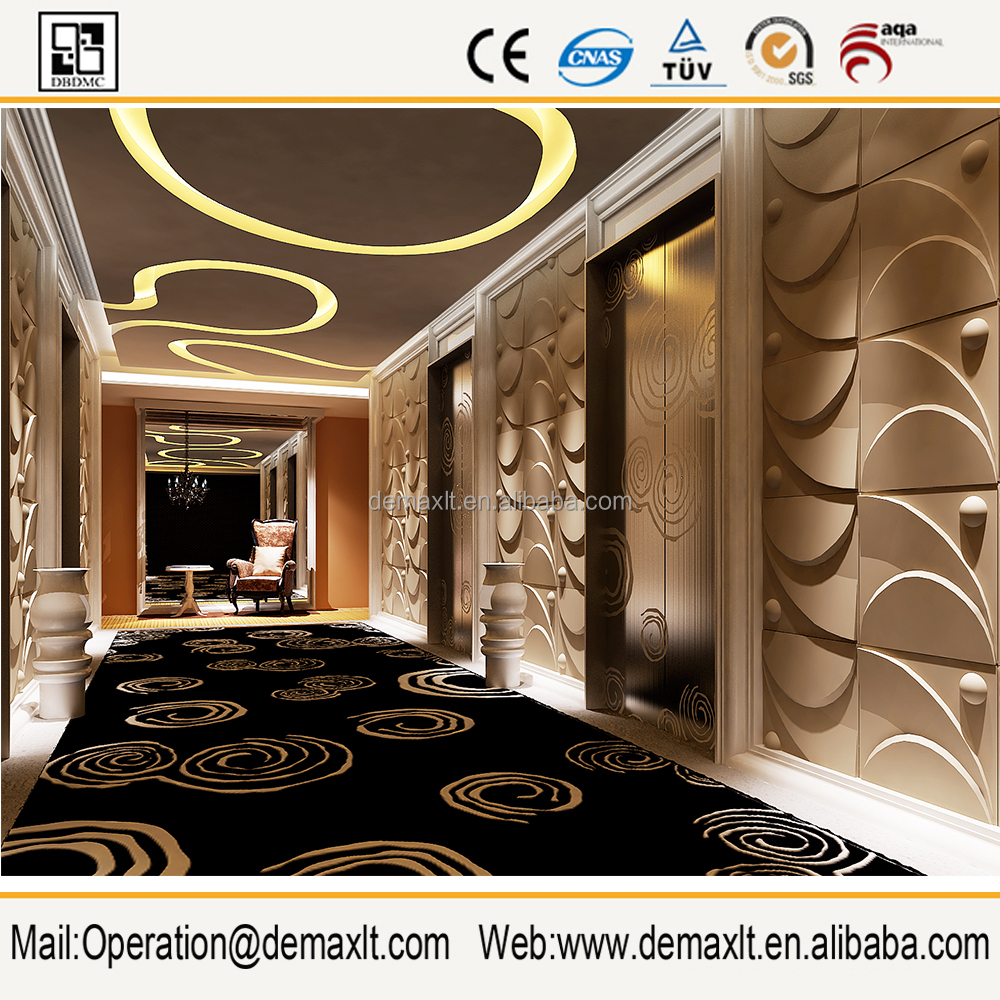 2019 shaped 3d leather wall panel for Interior decoration