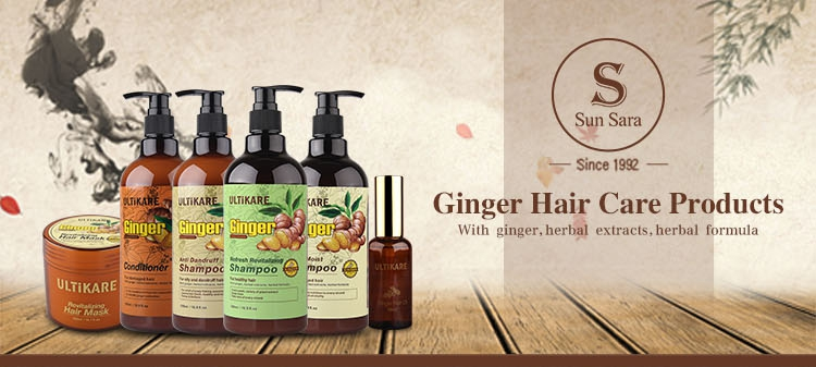 Private label organic hair straightening ginger hair growth oil for women