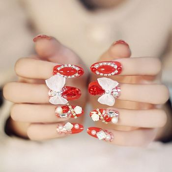 3d Nail Tips Flower Design Nail Art Best Selling Nail Tips Buy