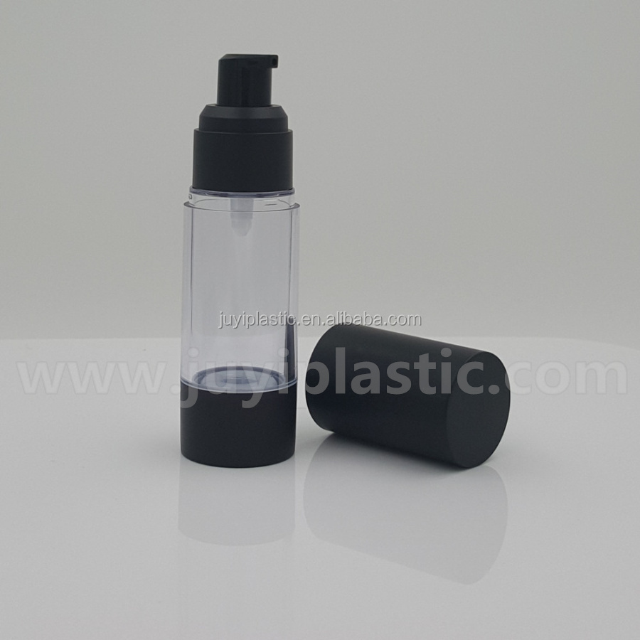 Black Cap 30ml,50ml,100ml,120ml Luxury Plastic Airless Lotion Pump ...