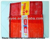 russia mesh bag 25kg bean,orange color,50*83cm popular use for packing onions