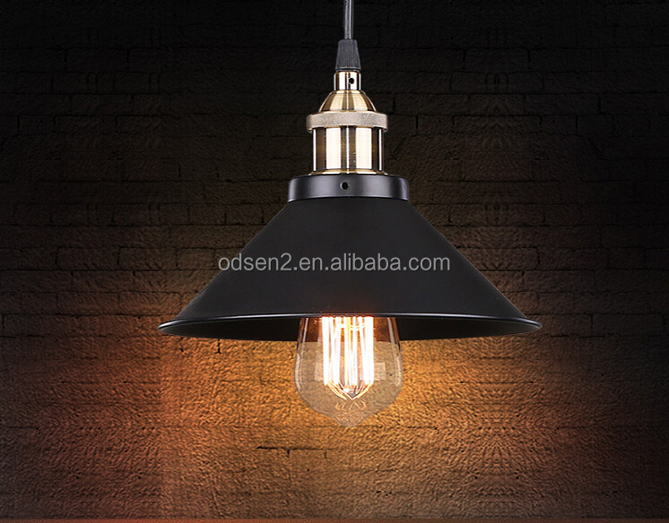 E27 indoor hanging black metal dining light pendant lamp