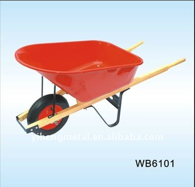 Single wheel wheelbarrow with 150KG loading capacity