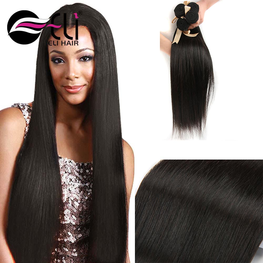 Hot Selling Mink Brazilian Human Hair,Silky Straight Wave 100% Human Hair extension Weave Bundles