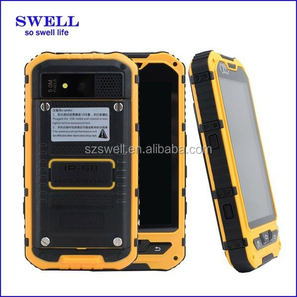 SWELL A8S MTK6582 Quad core Rugged Smartphone with 13.56 NFC HF RFID IP68 Rugged Phone