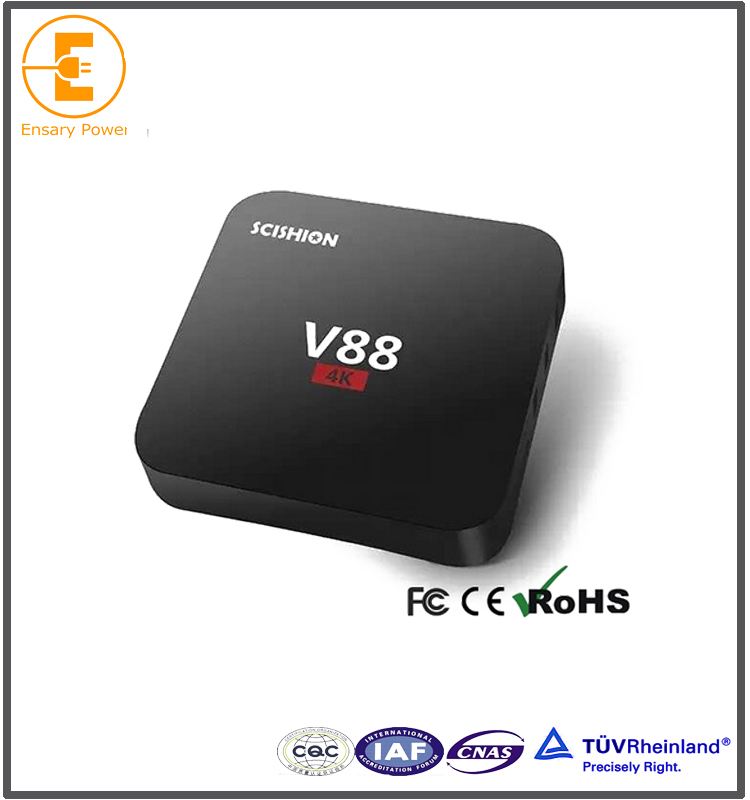 Wholesale V88 RK3229 4K Smart Android 5.1 1GB 8GB Hybrid Internet Digital Tv Free IPTV Air Cable Set Top Box Price