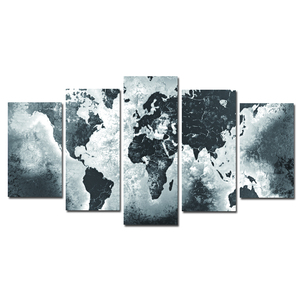 world map canvas art printing 5 panelcanvas painting wall art