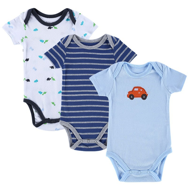 BABY BODYSUITS 3PCS 100%Cotton Infant Body Bebes Short ...