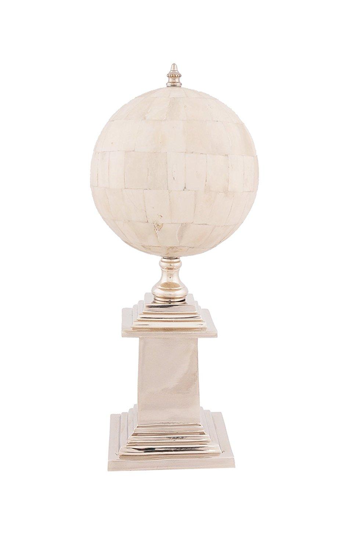 Old Modern Handicrafts Bone Globe with Aluminium Base
