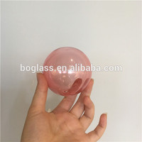80mm pink color Christmas glass ball for Christmas tree decoration
