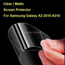 New HD Clear / Anti-Glare Matte Screen Protector For Samsung Galaxy A3 2016 A310 A3100 Protective Film Guard With Cleaning Cloth