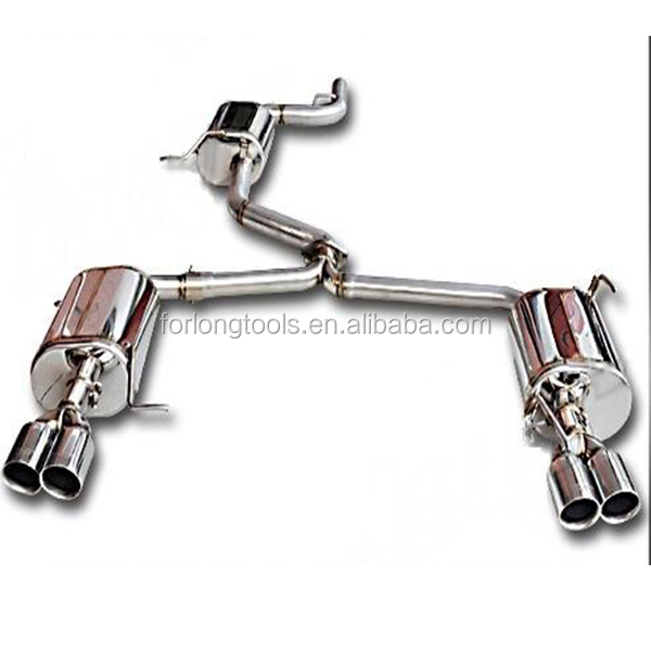 FOR VW CC 2.0 T 10-ON DOUBLE OUTLETS EXHAUST PIPE MODIFIED
