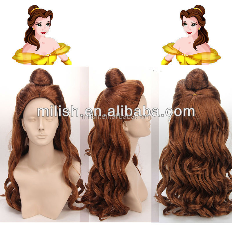 Beauty and the Beast Belle Custom Made cartoon Cosplay Wigs MCW-0098