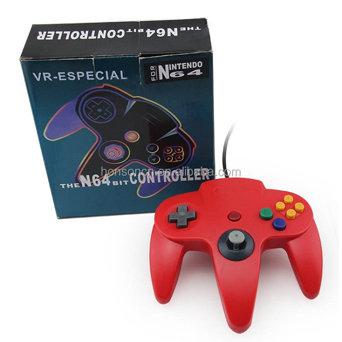 Good Product Red Classic Retro Wired Joystick Gamepad for N64 Console