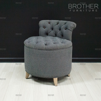 Fantastic Luxury Modern Design Bedroom Furniture Round Pouf Ottoman With Low Back Buy Pouf Ottoman With Low Back Pouf Ottoman Ottoman With Low Back Product On Cjindustries Chair Design For Home Cjindustriesco