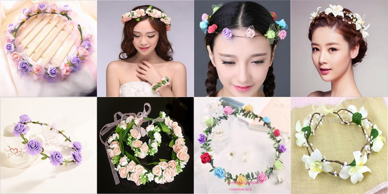 New Mom and baby garland wrist garlands crown of flowers for hair wreath  garland headband mom 87c12b073e2