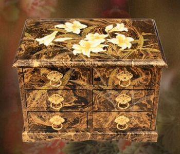 Exquisite Lacquerware Wooden Storage Case Antique Drawing Jewelry Gift Box Hand Painting Decorative Mini & Exquisite Lacquerware Wooden Storage CaseAntique Drawing Jewelry ...