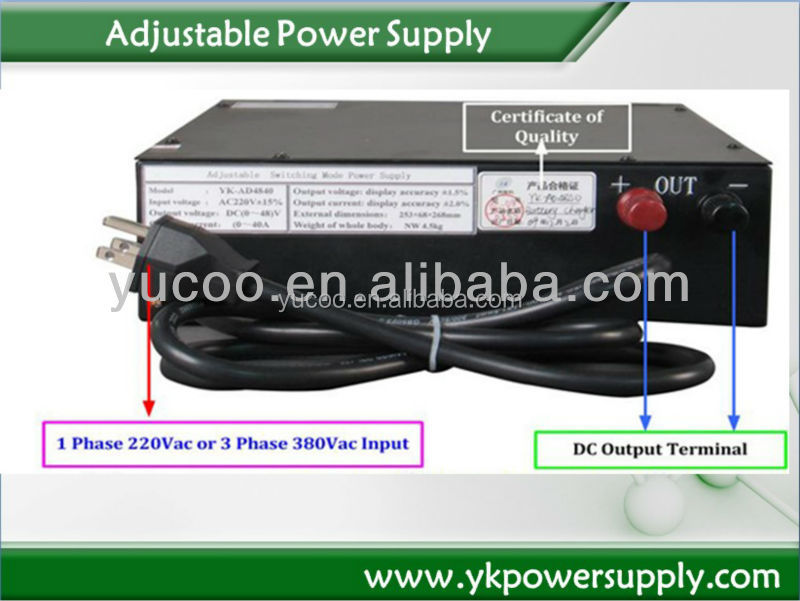 0-10vdc 0-150a dc 1500W max dc power supply battery charger