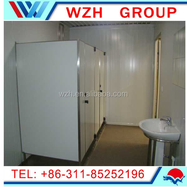 China alibaba portable house / easy to assemable container house with door and window / mobile toilet and shower