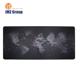 World Map Extended Gaming Black Mouse Pad Large Size 900x400mm Office Desk Pad Mat with Stitched Edges for PC Laptop Computer