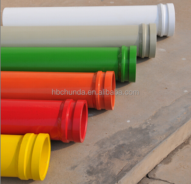 Chinese supplier DN125 ST52 Concrete Pump steel pipe with SK/ZX/FM/HD collar