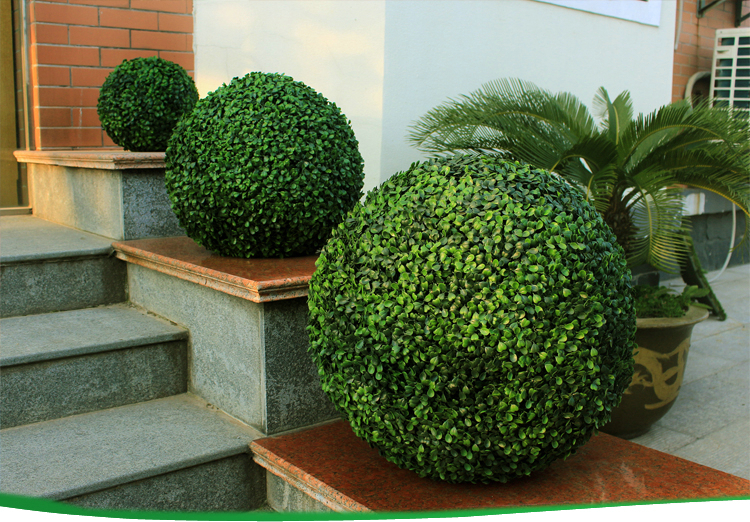 artificial boxwood ball hedge decorative vertical garden edging