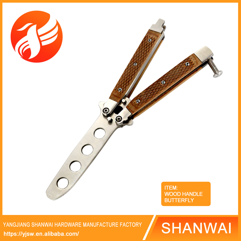 No blade butterfly stainless steel training <strong>knife</strong> with hole