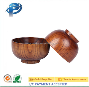 Customized Size Eco-Freindly Wood Dinnerware Bowl,Wood Salad / Rice/ Soup Serving Bowl