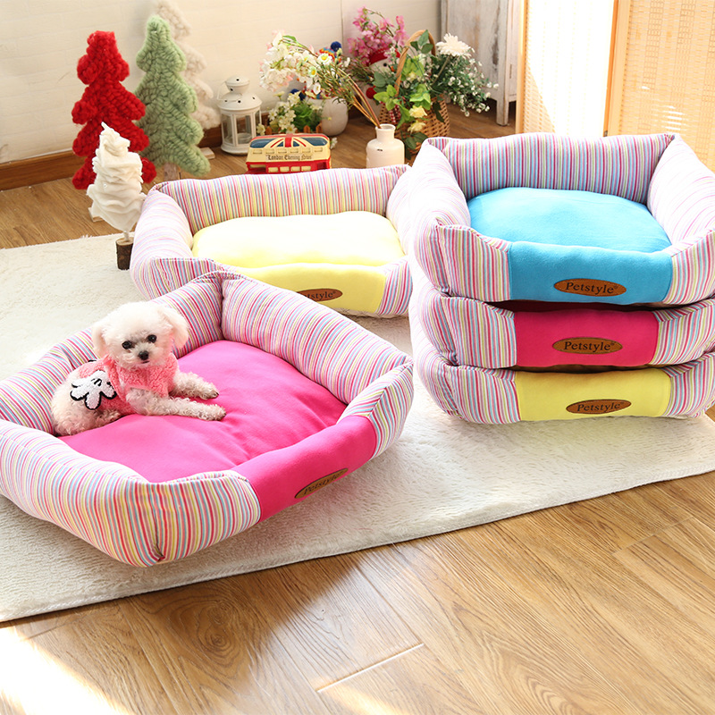 Stripe Fashion Dog Bed Memory Foam Dog Bed Wholesale Pet Supplies Dog