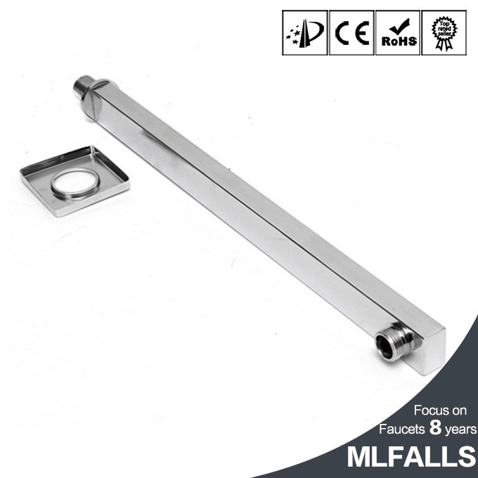 High Quality Best Price 40cm Stainless Steel Chrome Square In Wall Mounted Rain Shower Arm For Shower Head Shower Accessories
