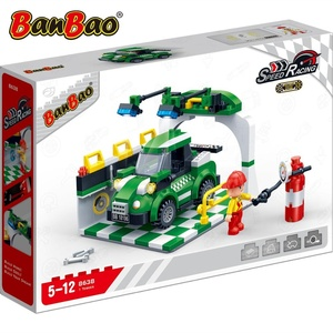 2019 New BanBao 8638 Gas Station Scene Top Quality Educational Legoing Molds Plastic Building Blocks Toys For Child