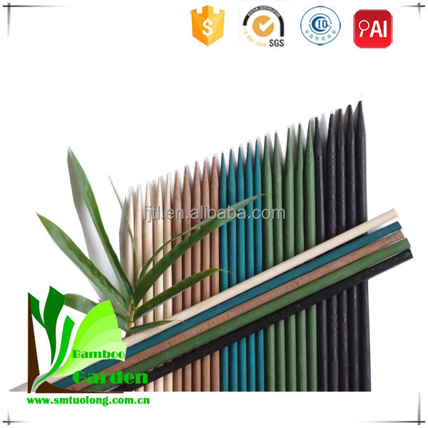 China Wholesale Natural Round Bamboo Flower Sticks For Garden ...